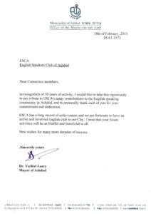 Mayor letter